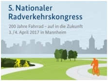 Ankündigung 5. Nationaler Radverkehrskongress 3./4. April 2017 Mannheim, Quelle: www.nationaler-radverkehrskongress.de